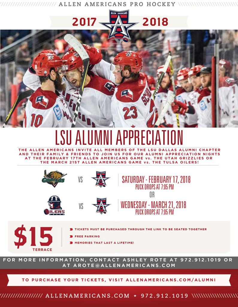 Allen-Americans-Alumni-Appreciation-Nights-LSU-Dallas-Alumni-Chapter