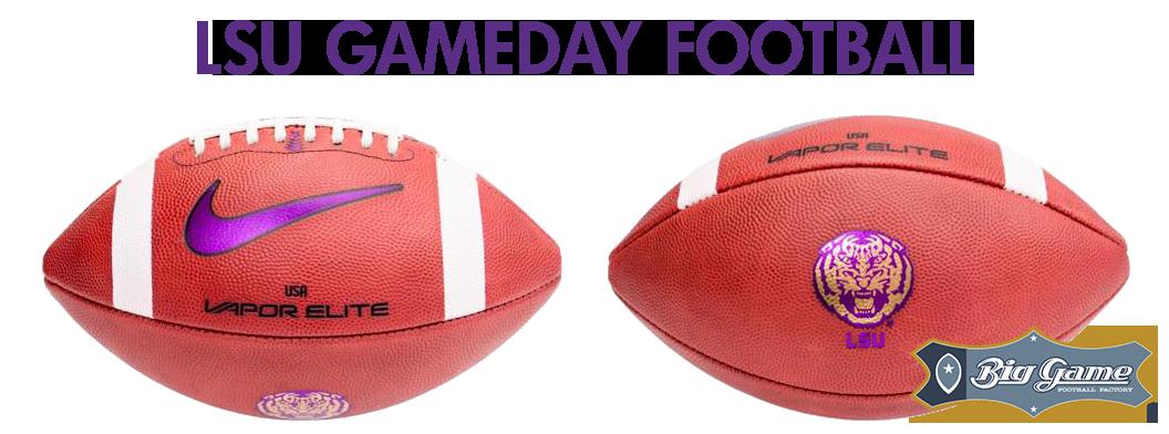 Big Game USA presents the official LSU Gameday Football - Nike Vapor Elite