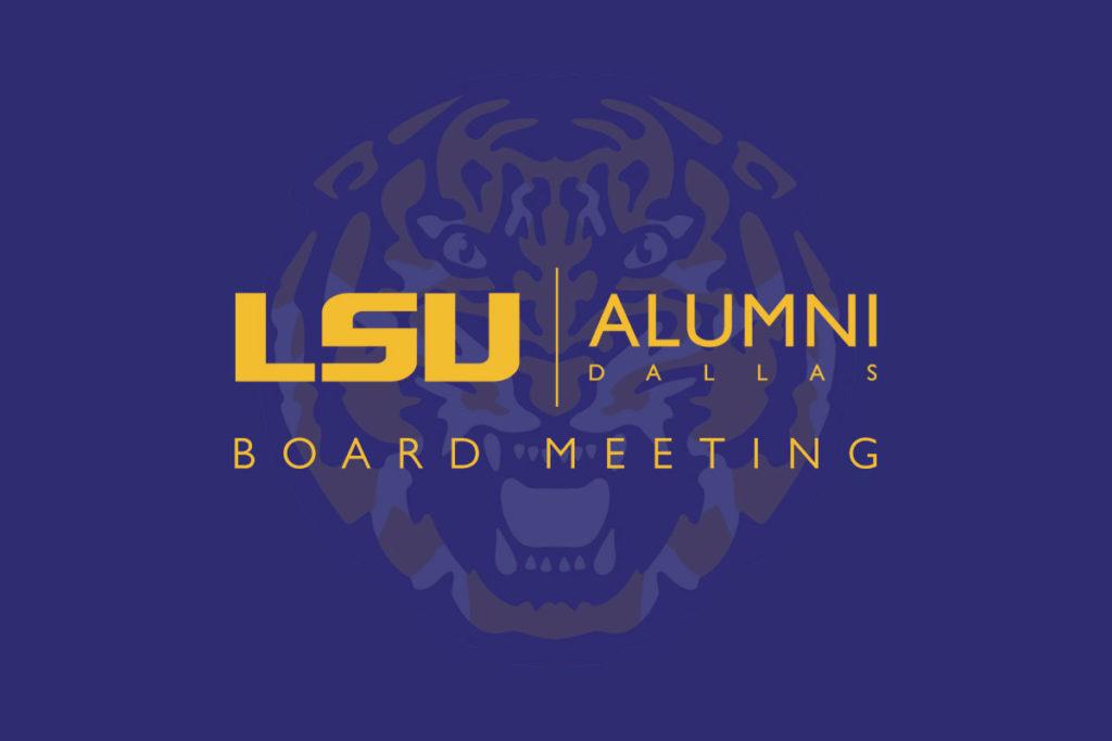 LSU Alumni Dallas Board Meeting