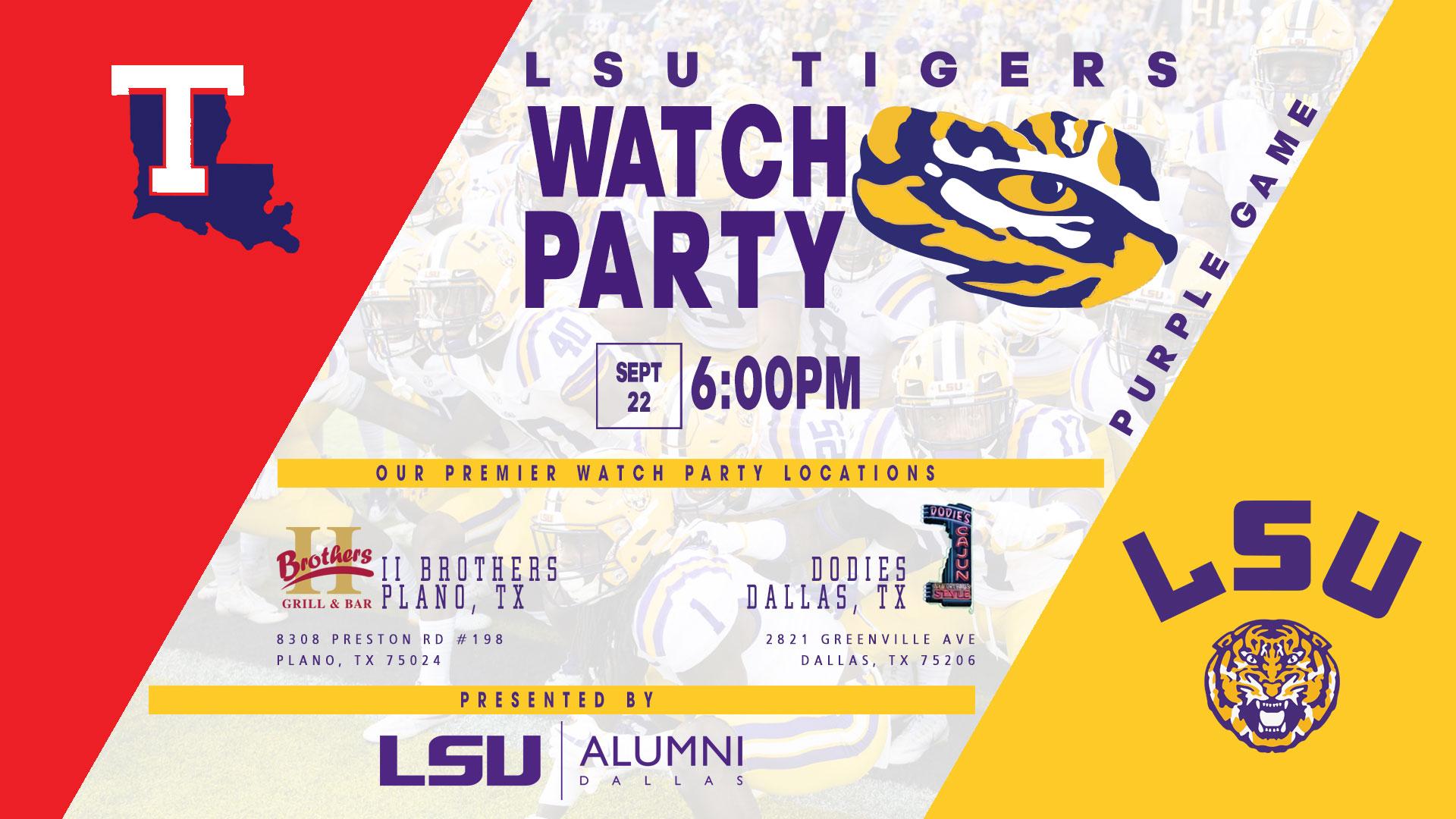 LSU Alumni Dallas Tailgate Party - Advocare Classic-LSU-vs-LaTech