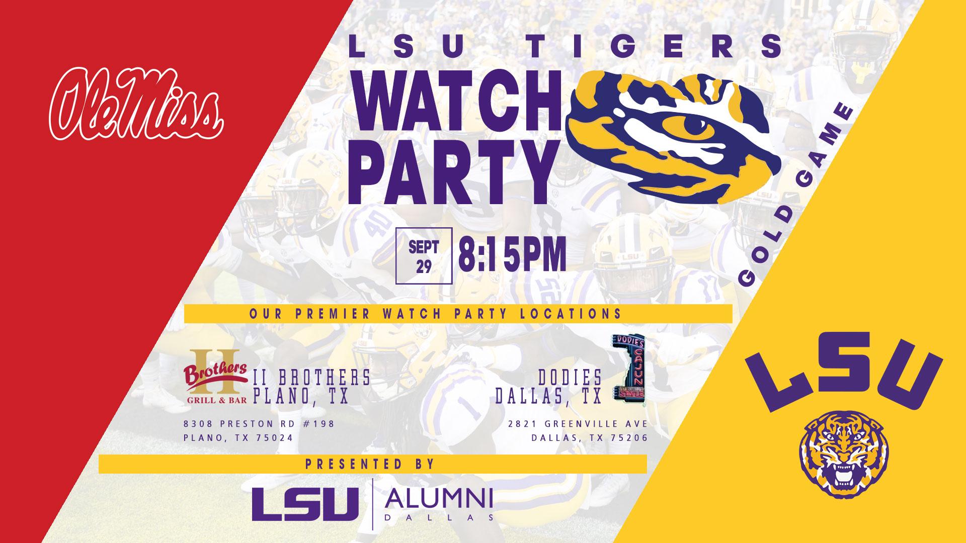 LSU Alumni Dallas Watch Party – LSU vs Ole Miss